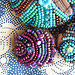 beaded button  #5