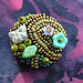beaded button #10